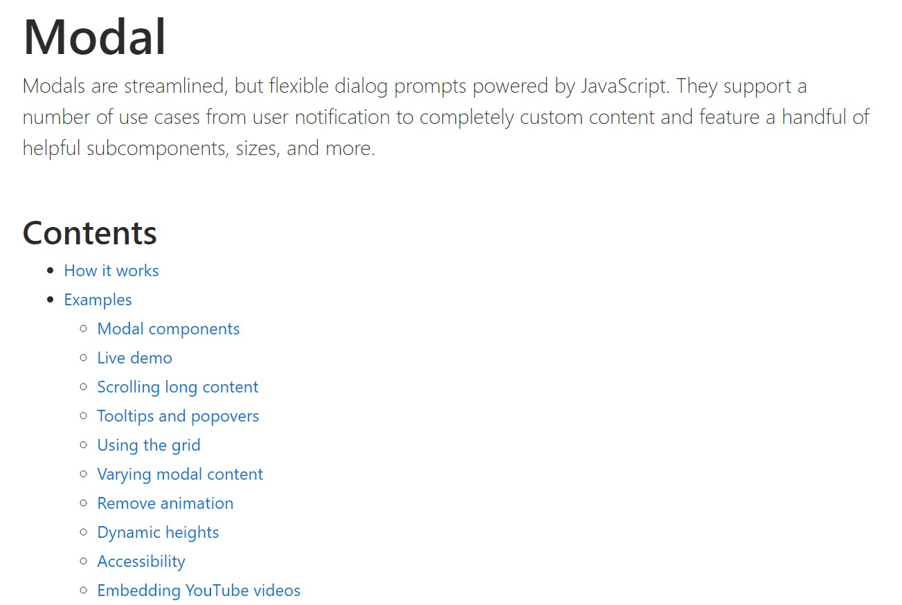 Bootstrap Modal Popup:  formal  information