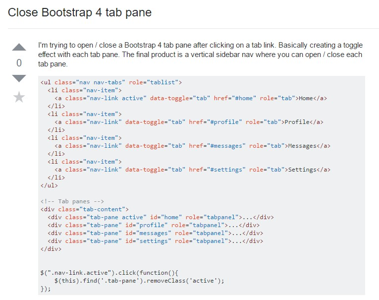 How to  shut off Bootstrap 4 tab pane